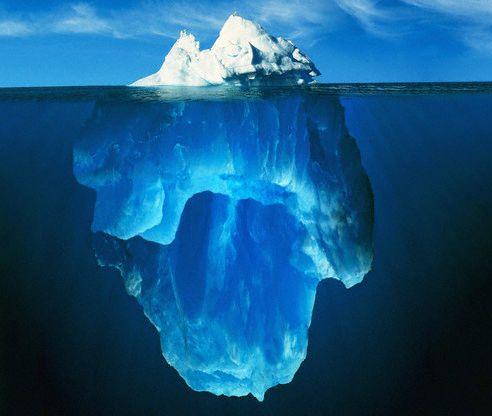o que sao metaforas iceberg
