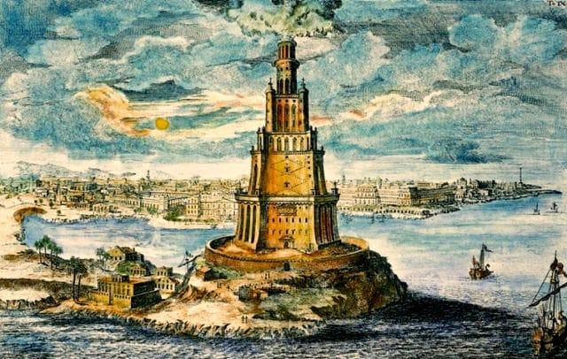 O Farol de Alexandria - ilustração revista galileu